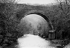 Penllwyn tramroad viaduct across the Sirhowy River